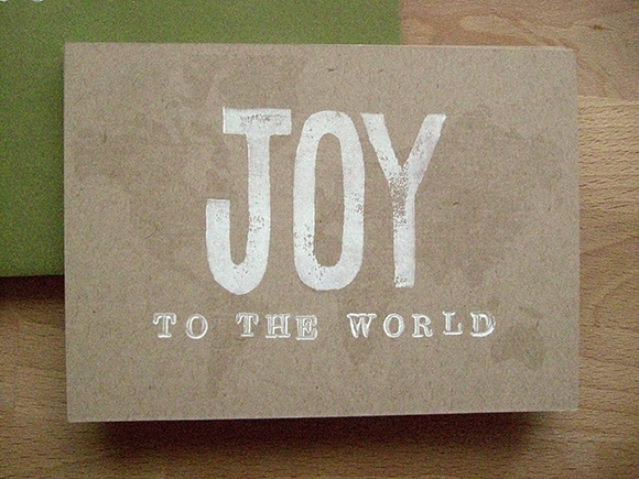 Joy to the World map Christmas Card