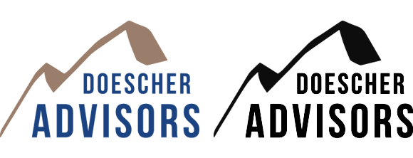 Doescher Advisors Color and BW logos